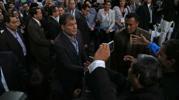 Rafael Correa aseguró el 11 de febrero del 2017 que ni Brasil ni Estados Unidos han proporcionado los nombres de los involucrados en el caso de Odebrecht. Foto: Archivo / EL COMERCIO