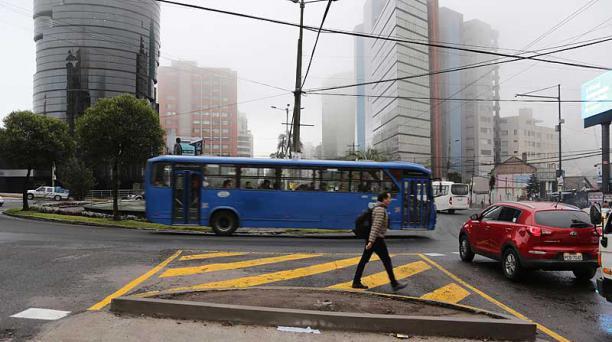 La mañana de este martes 14 de febrero, Quito amaneció con un cielo nublado y para horas de la tarde se prevé lluvias. Foto: Alfredo Lagla / EL COMERCIO