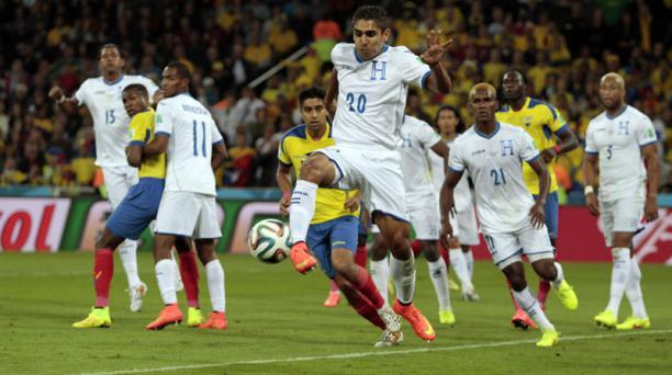 Partido entre Ecuador y Honduras jugado en la primera ronda del Mundial de Brasil, el pasado 20 de junio del 2014