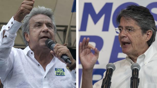El candidato oficialista Lenín Moreno y el opositor Guillermo Lasso pasaron a la segunda vuelta en las elecciones presidenciales de Ecuador. Fotos: Enrique Pesantes/ EL COMERCIO