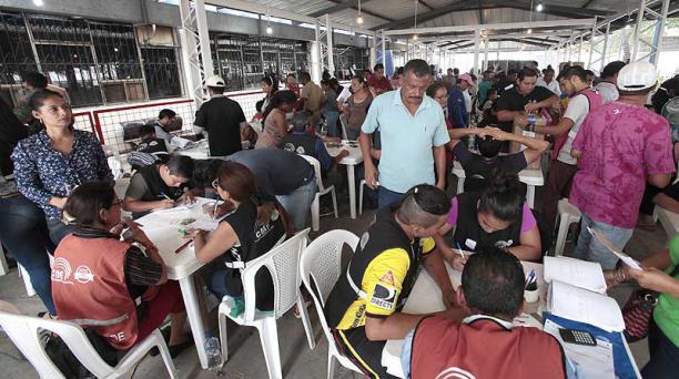 El conteo de votos realizado en Guayaquil tuvo que suspenderse por enfrentamientos entre los delegados. Foto: Mario Faustos / EL COMERCIO