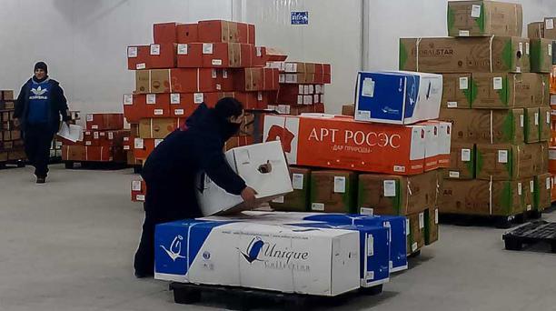 En la consolidadora de la firma Flowercargo se ingresa la carga del producto flor. Foto: Adriana Bucheli / EL COMERCIO