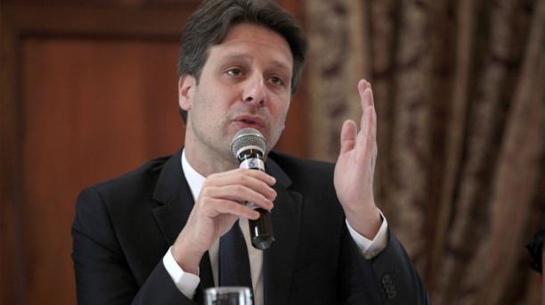 El canciller Guillaume Long habló ante el Consejo de Derechos Humanos sobre los migrantes. Foto: Patricio Terán/ EL COMERCIO