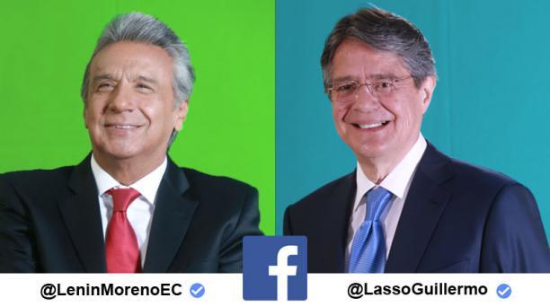 En las fotos, a la izquierda, Lenín Moreno de Alianza País y Guillermo Lasso de Creo, candidatos a la Presidencia de la República. Fotos: Diego Pallero / EL COMERCIO