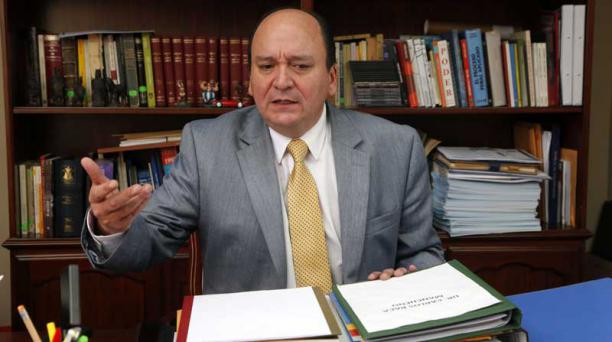 Baca Mancheno es jurista graduado en la Universidad Central en 1996. Foto: Patrio Terán / EL COMERCIO