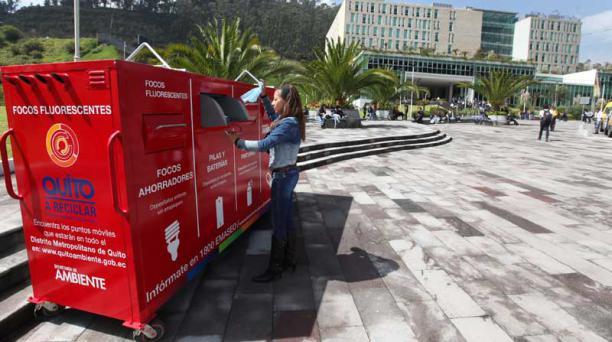 Para el programa de recolección de desechos altamente contaminantes se invirtieron USD 160 000. Foto: Julio Estrella / EL COMERCIO