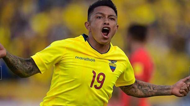 Leonel Ramírez, de 22 años, seleccionado ecuatoriano. Por una lesión no podrá jugar ante Paraguay y Colombia en eliminatorias. Foto tomada de la página de la Federación Ecuatoriana de Fútbol