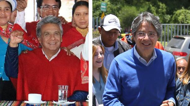 Los candidatos a la Presidencia de Ecuador, Lenín Moreno (Alianza País) y Guillermo Lasso (Creo-SUMA) realizan la campaña electoral para la segunda vuelta, que se definirá el próximo 2 de abril. Fotos: Cortesía y EL COMERCIO
