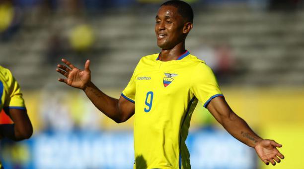 Fidel Martínez, delantero de la Selección Ecuatoriana de Fútbol, no podrá jugar ante Colombia el próximo 28 de marzo del 2017