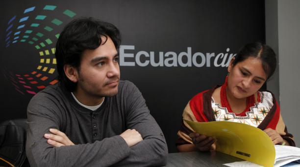 Eliana Champutiz y Roberto Almendáriz, Cncine. Fotos: Patricio Terán / EL COMERCIO