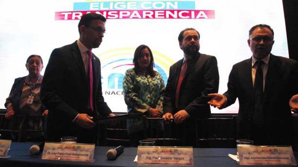 Galo PAguay / el comercio Los vocales del CNE realizarán hoy el escrutinio nacional para entregar los resultados.