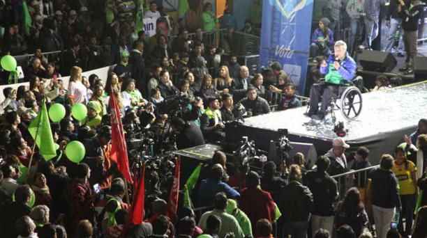 Durante la segunda vuelta electoral, como parte de la estrategia, se dio más peso a las ofertas de Lenín Moreno. Foto: Archivo / EL COMERCIO