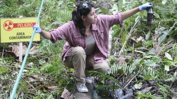 Lago Agrio. La comunidad pide una reparación por daños causados en el suelo de la Amazonía entre 1964 y 1990 por Texaco, adquirida por Chevron en 2001. Foto: Archivo / EL COMERCIO