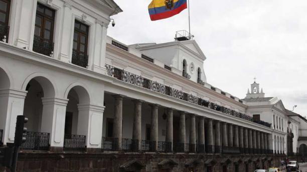 En 1809,en este lugar estaba el Palacio de la Real Audiencia de Quito.  Ahora es conocido como el Palacio de Carondelet, la casa de Gobierno. Foto: Galo Paguay/EL COMERCIO