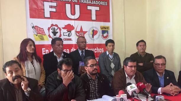 El Frente Unitario de Trabajadores es una de las organizaciones que se movilizará este día, en Quito. Foto: Archivo/EL COMERCIO