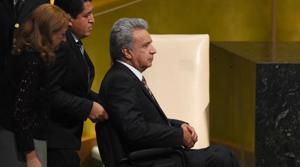 El Presidente agradeció que la ONU adecuara la sala para que diera su discurso. Foto: AFP