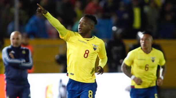 Romario Ibarra, de 23 años, marcó un gol en cada uno de los dos últimos cotejos de eliminatorias. Foto: Patricio Terán / EL COMERCIO