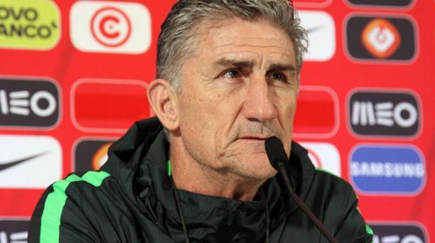 El DT Edgardo Bauza considera que no volvería a dirigir la selección de Argentina, el técnico dijo que prefiere Liga de Quito. Foto: EFE