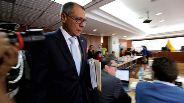 Este 13 de diciembre del 2017, se emitió el fallo para el vicepresidente del Ecuador, Jorge Glas, por el delito de asociación ilícita en el caso Odebrecht. Foto: EL COMERCIO