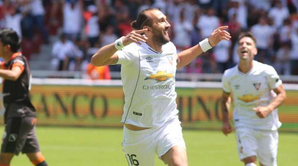 El delantero argentino Hernán Barcos, de 33 años, marcó 23 goles en 38 partidos