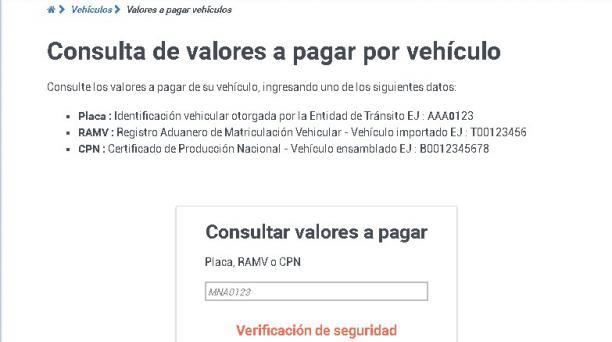 Según la AMT, debido a la validación de las tasas por matrícula y del Sistema Público para Pago de Accidentes de Tránsito (SPPAT), a cargo de la Agencia Nacional de Tránsito (ANT), esos rubros aún no se reflejan en el pago para matricular un vehículo. Cap