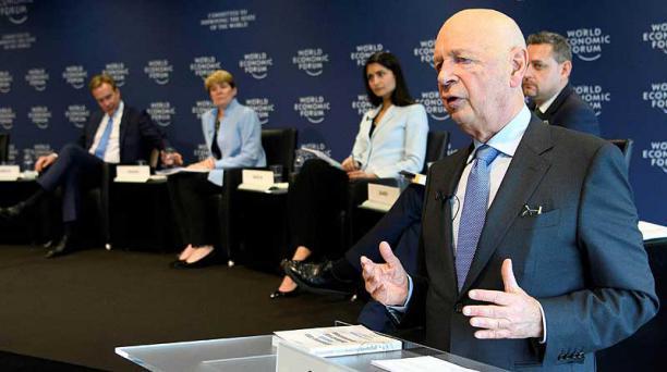 El pasado viernes, el Consejo de Dirección del Foro Económico Mundial realizó una presentación sobre el encuentro Foto: Laurent Gillieron / EFE
