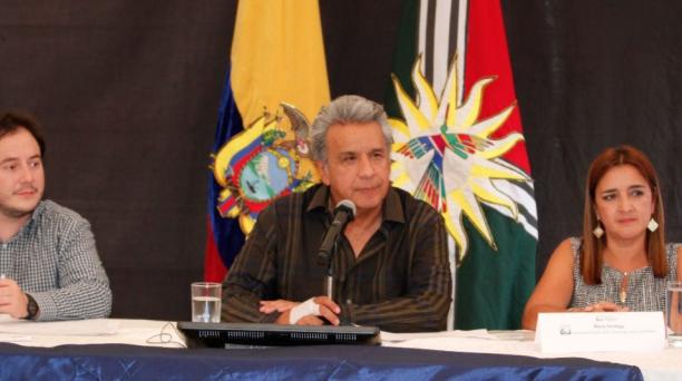 El Primer Mandatario resaltó la importancia de mantener una relación cordial con Estados Unidos. Foto: Twitter Presidencia del Ecuador