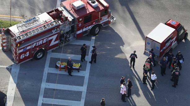 Un tiroteo en una escuela de registró en Florida. Fotos: EFE y AFP
