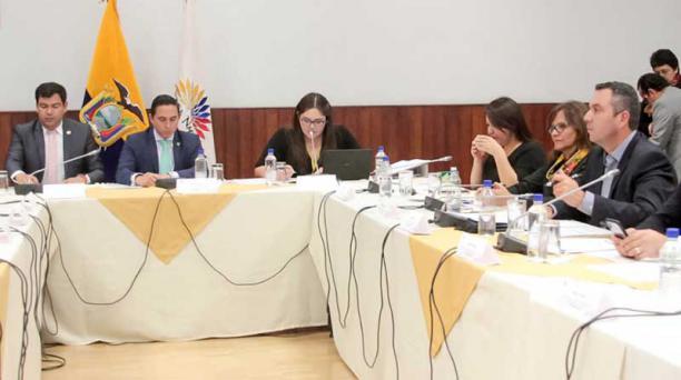 La Comisión Ocasional Especial de la consulta popular se reunió ayer por la tarde. Foto: API
