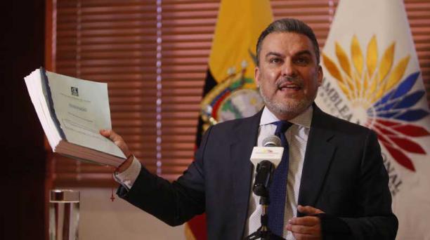 Serrano dio una rueda de prensa sobre un audio develado por el Fiscal General. Foto: Diego Pallero / EL COMERCIO