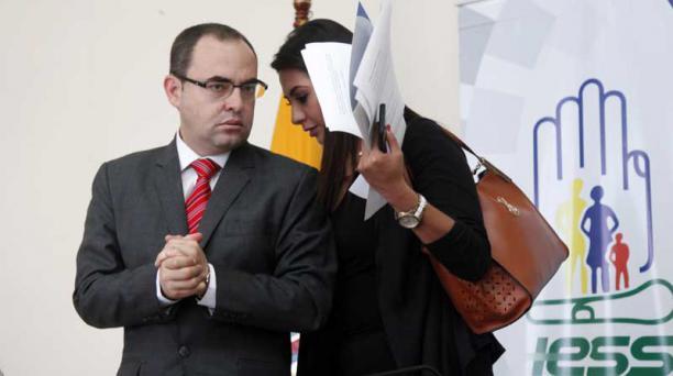 El nuevo titular del IESS, Manolo Rodas, ofreció el 26 de febrero declaraciones sobre su gestión. Foto: Patricio Terán / EL COMERCIO