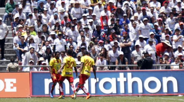 Aucas y Liga de Quito empataron 1-1 en el estadio Rodrigo Paz Delgado. Foto: Agencia API
