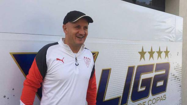 Pablo Repetto, técnico de Liga de Quito, el 27 de marzo del 2018. Foto: David Paredes / EL COMERCIO