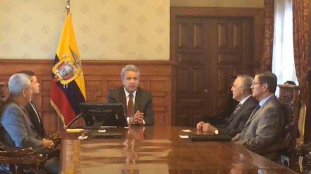 Lenín Moreno habló sobre el equipo periodístico secuestrado en Mataje, en Esmeraldas. Foto: EL COMERCIO