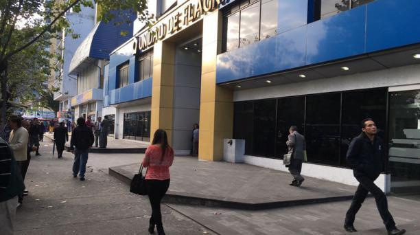 La detenida por este caso fue llevada a la Unidad de Flagrancias. Foto: Diego Bravo / EL COMERCIO