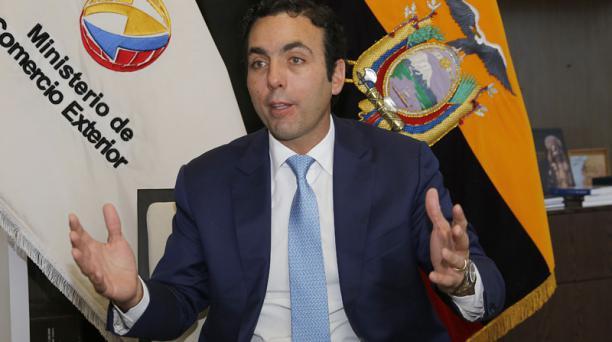El ministro Pablo Campana informó este 25 de abril del 2018 que Ecuador terminó la negociación con los países que conforman el EFTA. Foto: Archivo/ EL COMERCIO