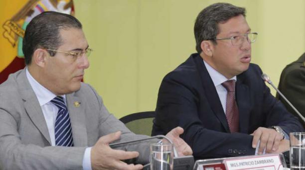 Zambrano y Navas son los ministros a cargo de la seguridad. Foto: Archivo: Alfredo Lagla  / EL COMERCIO
