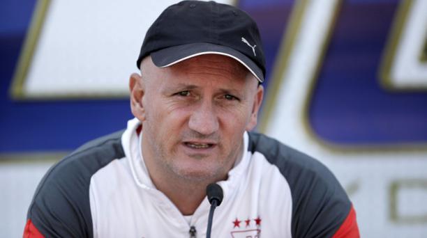 Pablo Repetto, entrenador de Liga de Quito, durante un entrenamiento del equipo. Foto: Archivo / EL COMERCIO