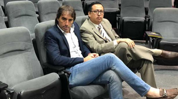 Guillermo Almada y Jorge Reinoso, en la audiencia del tribunal de apelaciones. Foto: Cortesía /Javier Ruiz