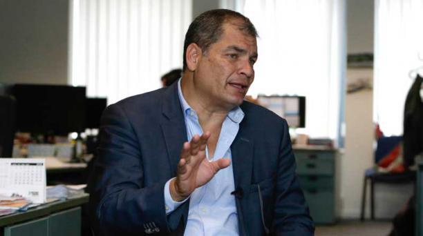 En la foto, el expresidente Rafael Correa en Bruselas. Foto: AFP
