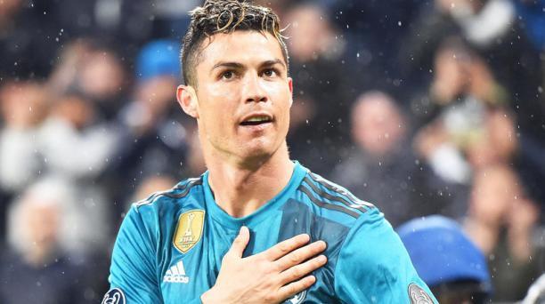 Imagen de archivo del jugador del Real Madrid Cristiano Ronaldo durante un partido en Turín, Italia, el 3 de abril del 2018. El portugués Cristiano Ronaldo ha dicho adiós al fútbol español al fichar con el club italiano Juventus de Turin, donde dará comie