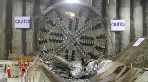 El pasado 4 de julio del 2018, la tuneladora Luz de América llegó a la estación San Francisco del Metro. Foto: Archivo/ EL COMERCIO