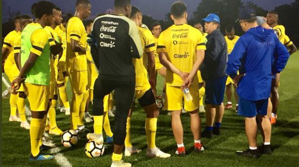 Imagen del entrenamiento del miércoles 5 de septiembre de 2018 de la Selección de Ecuador en el NY Red Bulls Training, tomada de la cuenta de Twitter @FEFecuador