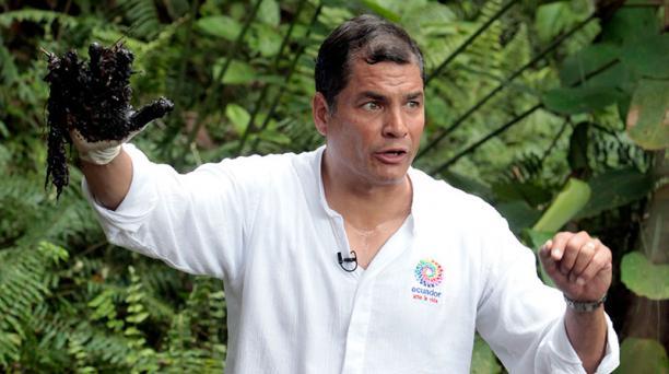 """Según Eduardo Jurado, secretario jurídico de la Presidencia, el caso fue aprovechado por el Gobierno anterior """"para ganar protagonismo político y mediático"""". En la foto, el expresidente Rafael Correa el pasado 17 de septiembre del 2013 en el sector de Agu"""