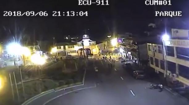 Imágenes video sismo Cumandá