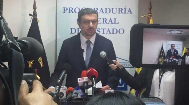 En la foto, el procurador, Íñigo Salvador Crespo, informó que el fallo implicará una reparación económica por daños a favor de Chevron. Foto: Galo Paguay / EL COMERCIO