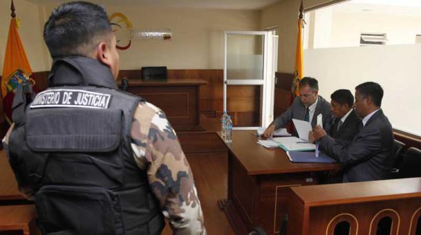 Este lunes 10 de septiembre del 2018, una jueza aceptó la prelibertad de Luis Guanotasig, acusado de intento de magnicidio en el 30-S. Foto: Patricio Terán/ EL COMERCIO