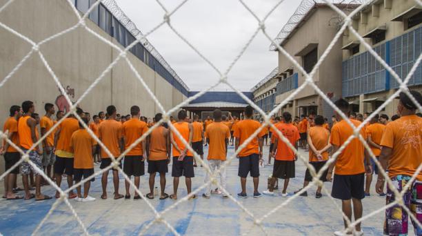 En el pabellón 7 de la Penitenciaría de Guayaquil están alojados los consumidores de droga que están en proceso de rehabilitación.  Foto: Enrique Pesantes / EL COMERCIO