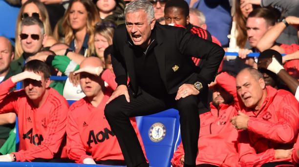 El técnico portugués José Mourinho en el estadio Stamford Bridge de Londres el 20 de octubre del 2018. Foto: Glyn Kirk / AFP