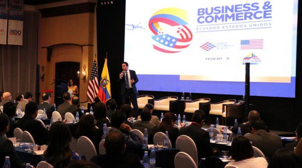 En junio pasado se realizó un foro internacional para promover las inversiones entre Ecuador y EE.UU., en Quito. Foto: Archivo / El Comercio